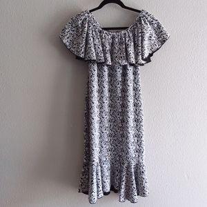 Lularoe Cici women's black and white dress size sm